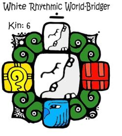 Kin 6, beli ritmicki spojitelj svetova